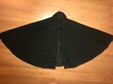 VTG 1900S 1800S WOMENS VICTORIAN BLACK SHORT WOOL CAPE JACKET