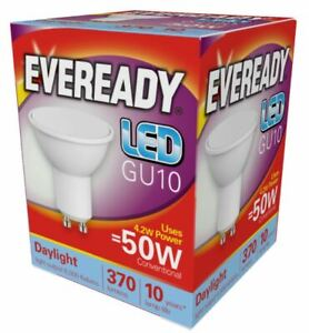 4.2w = 50w LED GU10 Reflector Spotlight Light Bulb Lamp Daylight White 50 Watt