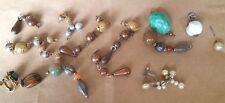 Lot of beads, vintage, 50's-70's, plus signed Haskall earring