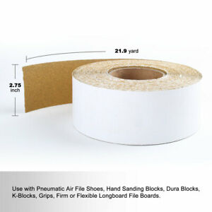 """8/"""" x 25 Meters Sandpaper Rolls Heavy Duty Silicon Carbide 60 Grit"""