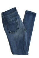 Black Orchid Womens Distressed Mid Rise Skinny Jeans Pants Blue Cotton Size 26