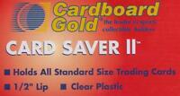 100 Ct Card Saver II Cardboard Gold PSA Graded Semi Rigid Holders CS 2