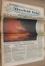 The Orchid Isle - Vintage 1967 Hawaii Newspaper Magazine Booklet