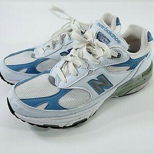 New Balance 993 Womens Running Shoes Sneakers White Blue Size 9 Made in USA