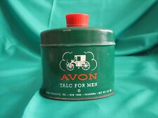VINTAGE AVON TALC TALCOM  FOR MEN GREEN CAN 2 5/8 OUNCES