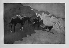 FREDERIC REMINGTON RANCHER AND HIS BORDER COLLIE HORSE SADDLE SHEEP RANCHING