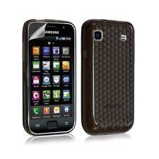 Housse étui coque gel pour Samsung Galaxy S i9000 motif couleur noir transparent