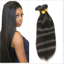 3 Bundles 150G All Straight Peruvian Virgin Human Hair Extensions Weave Weft 8""
