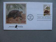 USA, cover FDC 1987, American wildlife, box turtle reptile