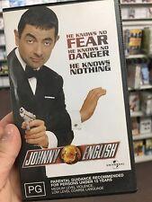Johnny English VHS tape (2003 Rowan Atkinson spy comedy movie)