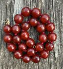 Vintage Art Deco Cherry Amber Red Bakelite Bead Necklace 48.7g