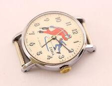 1970's Zarja speed skaters USSR Soviet mechanical men's wrist watch, EXPORT, 21J