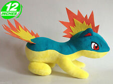 "Plush New Pokemon Quilava STUFFED TOY Doll 12"" Length Gift"