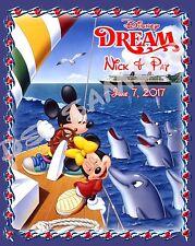5x7 CUSTOM Disney Cruise Door Magnet - SAILBOAT & DOLPHINS