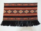 "WOOL wall carpet 26""x18"" RUG #VINTAGE  BULGARIA ethnic embroidery"