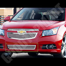 For Chevy CRUZE 2011 2012 2013 1PC bumper Chrome Polished MESH OVERLAY Grille