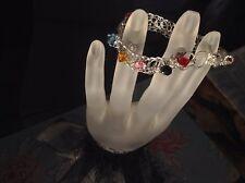 Swarovski Elements hand knitted charm bracelet.