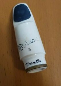 Vintage Brilhart tonalin Alto Sax Mouthpiece serial numbered and band on shank