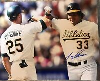 Jose Canseco Oakland Athletics A's Signed Autographed 8x10 Photo Gdst Holo B