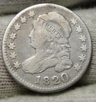 1820 Capped Bust Dime 10 Cents - Nice Coin, Free Shipping  (7870)