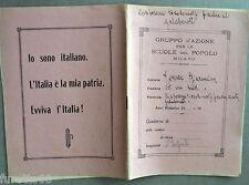 Quaderno anni 20/30 Gruppo d'Azione per le Scuole del Popolo Milano