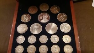 Queen Juliana Of Holland  silver coin set