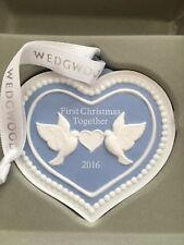 Wedgwood Ornament 2016 First Christmas 2016 Christmas Blue Heart $50 New in Box