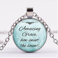 Photo Cabochon Silver Fashion Glass Necklace pendant(quotes)