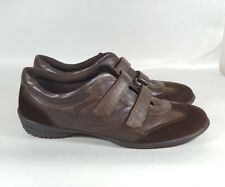 Ecco Sneakers Leather Brown Adjustable Straps 41