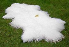Tibet Lammfell Schaffell weiß ca. 110 cm Tibetlammfell Tibetlamm Fell