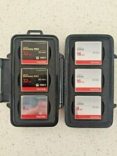 Pelican 945 CF card case with 7 Compact Flash cards