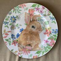 "🐰 NWT Adorable Ashland EASTER Charger Plate 13"" Bunny Rabbit Spring Melamine"