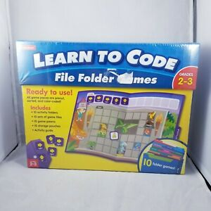 Lakeshore Learn To Code File Folder Games Grade 2 To 3