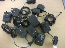 10 Power Adaptors. Assorted Mixed Voltage Adapters, PSUs, UK Plug, ref 3801
