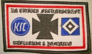 Aufnäher In ewiger Freundschaft Karlsruhe / Hamburg  Fussball Fanartikel