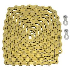 YBN 12 Speed Chain 126 Link With Power Lock Same As SRAM PC-XX1 Eagle, Gold