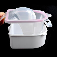 Finger Nail Manicure Soak Bowl Art Tips Soaker Treatment Remover Spa Wash Tool