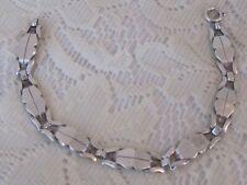 """H1 Vintage Link Bracelet 7"""" Antique 835 Silver Simple Design"""