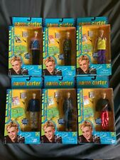 Lot of 6 Aaron Carter Figures Dolls New in box 2001 Play Along