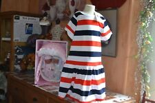 robe neuve petit bateaux 8 ans  BLANC bleu rouge superbe