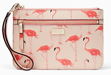 NWT Kate Spade Shore Street Tinie Wristlet Wallet Clutch, Flamingo, MSRP $119