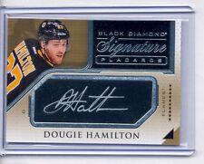 2015-16 Black Diamond Signature Placards Dougie Hamilton Auto Autograph