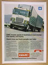 1972 GMC Astro 95 Cab-Over Truck semi rig double-trailer photo vintage print Ad