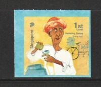 SINGAPORE 2017 VANISHING TRADES 1ST LOCAL DAIRY MAN 11TH REPRINT (2017L) 1 STAMP