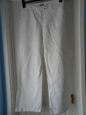 Wide Leg Cotton Mid Rise Trousers Size Tall for Women