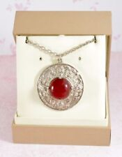 Glass Silver Pendant/Locket Vintage Costume Jewellery (Unknown Period)