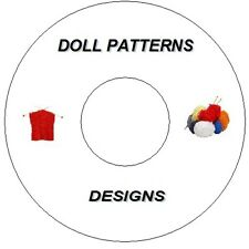 """DOLLS KNITTING PATTERNS ON CD DVD OVER 350 12"""" - 20""""  DOLLS CLOTHES"""