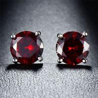 Beautiful .50ctw Ruby  Silver Stud Earrings