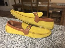 Awesome LOUIS VUITTON  mustars suede Hockenheim men's loafers shoes LV 7 / US 8