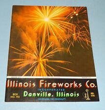 ILLINOIS FIREWORKS CO. CATALOG 1971